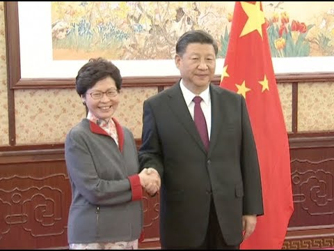 Chinese President Xi Jinping Meets Chief Executive of Hong Kong SAR