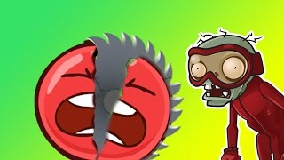 КРАСНЫЙ ШАР НАПАЛ НА ЗОМБИ ПРОТИВ РАСТЕНИЙ Круглый Шарик Plants vs zombies Red Ball 4 Мультик .