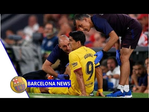 Luis Suarez forced off as Barcelona suffer another fitness blow after Lionel Messi injury- Barcel...