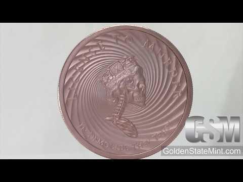 2019 Silver Shield MiniMintage Series Royal Invader 2 oz Copper US Made BU Round