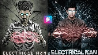 #PicsArt Electric man Editing Step by Step || PicsArt Visual Editing || PicsArt Futuristic Editing