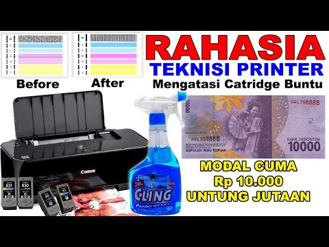 Cara Head Cleaning Dan Nozzle Check Manual Pada Printer Canon IP2770 Tanpa PC / Komputer. How To Hea.