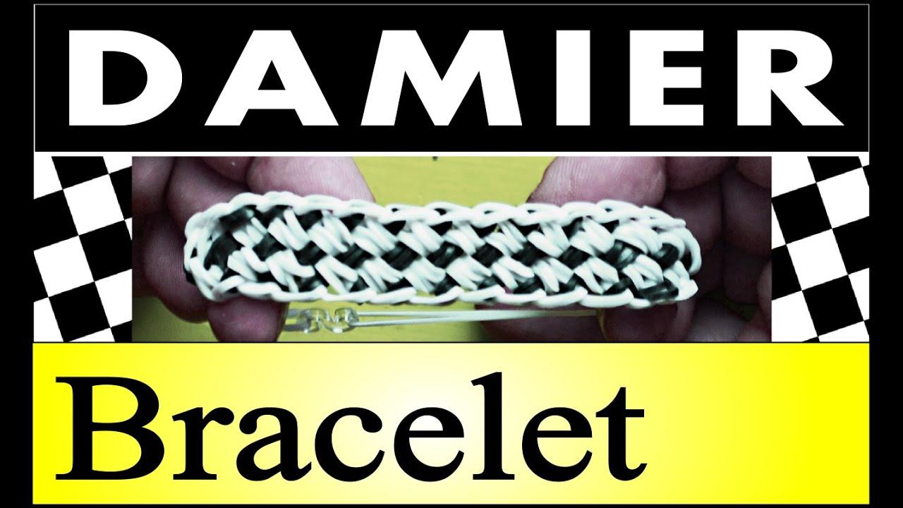 comment faire des bracelets avec des lastiques damier rainbow loom youtube. Black Bedroom Furniture Sets. Home Design Ideas