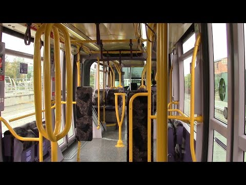 On Board a Luas Tram - Sandyford to Stillorgan Station in Dublin
