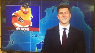 Gritty, Philadelphia Flyers mascot on SNL Weekend update