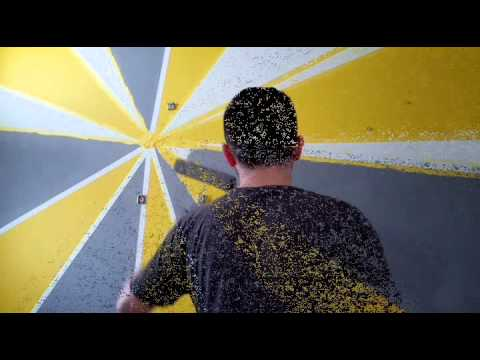 Wall painting design ideas time lapse - YouTube