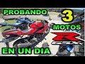 PROBANDO 3 MOTOS EN UN DIA SUZUKI GSX-R 150,  GSX-S 150 Y GSX 250 R