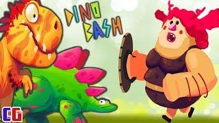 Dino Bash #4 БОСС ТРОГЛОДИТОВ и НОВЫЙ ДИНОЗАВР СТЕГО в Мультяшной игре Дино Беш от Cool GAMES