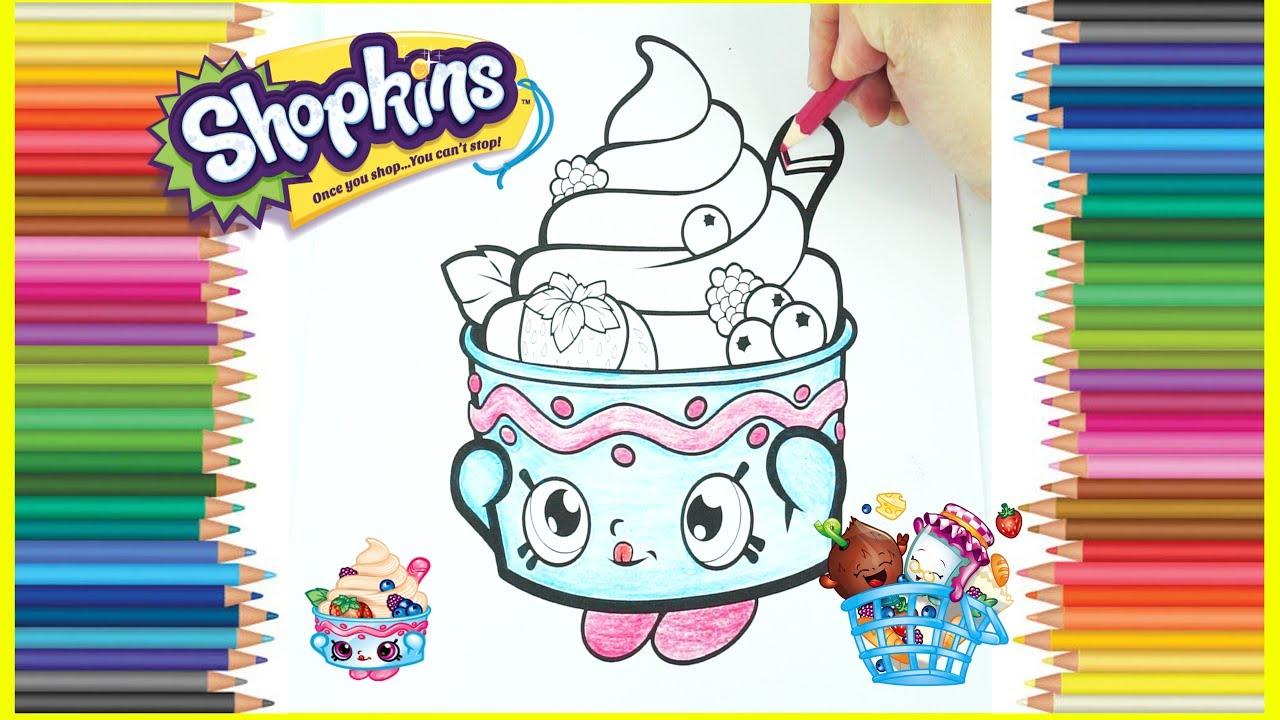 Shopkins Yo-Chi Frozen Yogurt Coloring In, Learn Colors ...