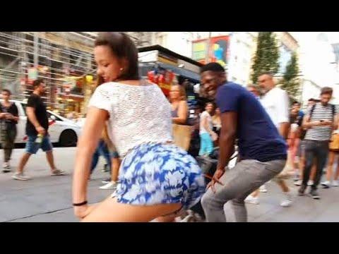 ME RETA BAILAR TWERKING y propongo SALSA CUBANA  bailando  con mujeres espontáneas en las calles