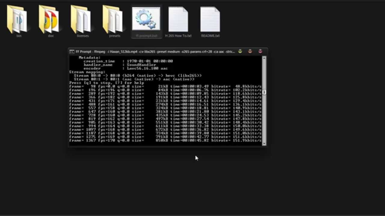 How To Encode To HEVC With FFMPEG