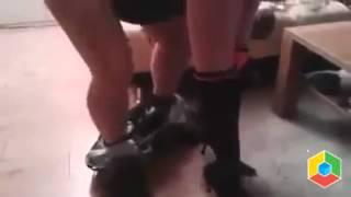 Быстрый секс с незнакомкой сзади. Quick sex with a stranger behind