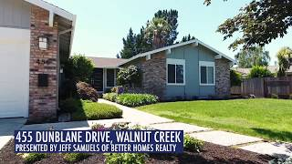 455 Dunblane Drive, Walnut Creek - 4 BR | 2 BA | 1,968 SQ FT - $998,888
