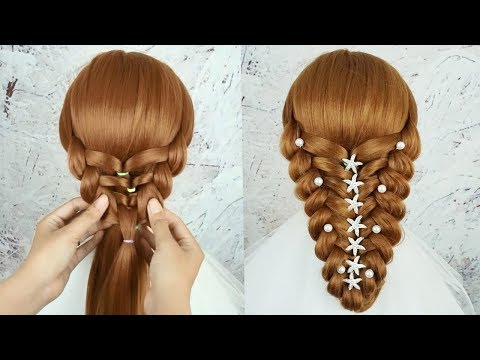 Amazing Hairstyles Tutorial - Hairstyle For Wedding And Party | Bridal Hairstyle Tutorial 2019 thumbnail