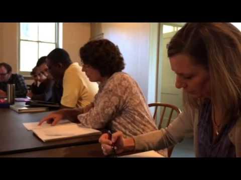 eastern Mennonite Seminary students read 1688 protest