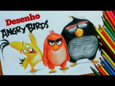Drawing Angry Birds Desenhando Os Personagens Youtube