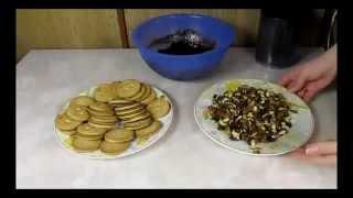 Рецепт домашней сладкой колбаски из какао с печеньем и орехами