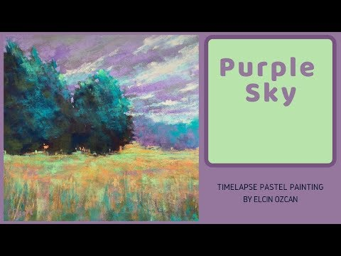 Purple Sky Timelapse Pastel Painting Demo – DISASTERS MANAGED