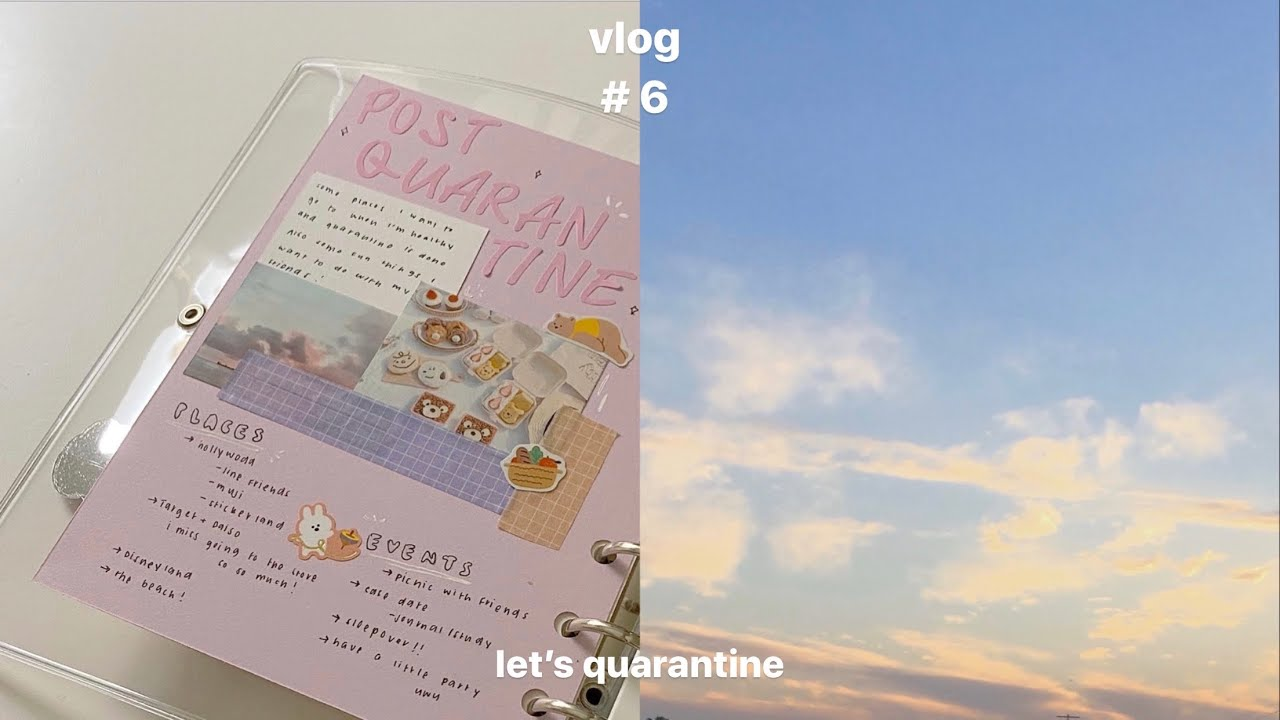 vlog 006 : lets quarantine + lots of journaling