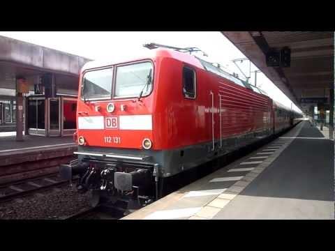 BR 112 131-8 mit frischem Lack, Abfahrt des RegionalExpress