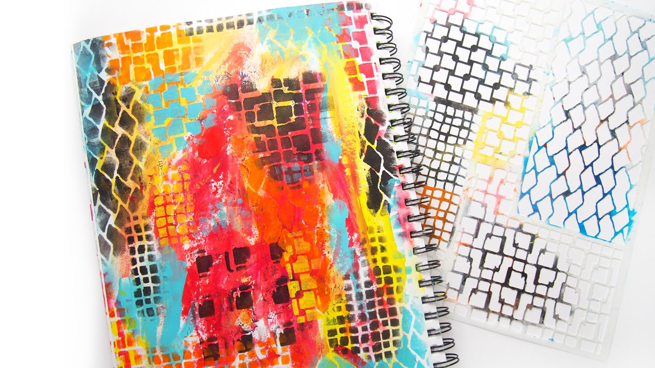 Building A Stenciled Background In An Art Journal Tutorial