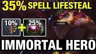 IMMORTAL HERO - 35% SPELL LIFESTEAL - Draskyl Plays Bristleback - Dota 2