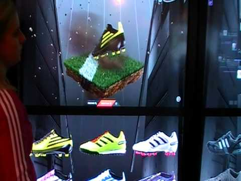 ab7d25744c8ca ISE 2011 adidas intel touch screen interactive wall - YouTube