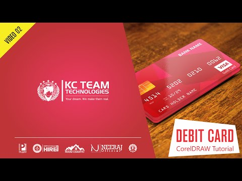 CorelDRAW Tutorial: How to design Credit or Debit Card in CorelDRAW