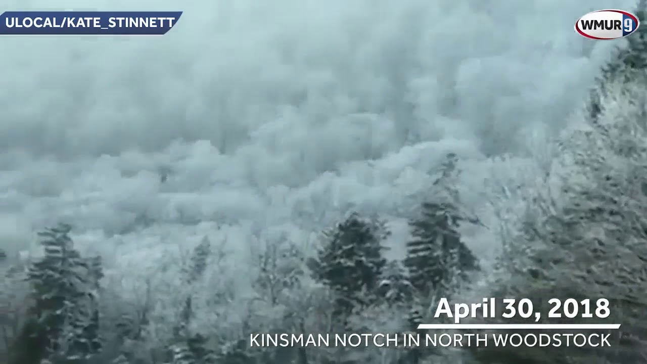 Wow! Check out this snowy scene in North Woodstock