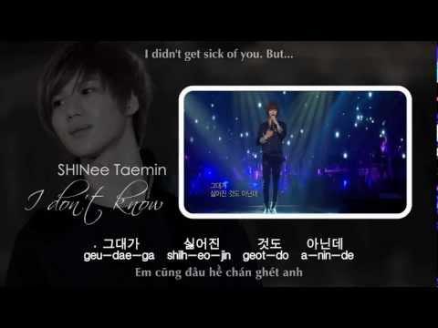 [MP3 DL] SHINee Taemin - I Don't Know [EngSub + VietSub]