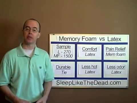Memory Foam vs Latex Mattress Beds   Compare strengths and weaknesses, advantages and disadvantages