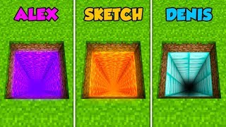 ALEX vs SKETCH vs DENIS - DEEPEST HOLE in Minecraft! (The Pals)