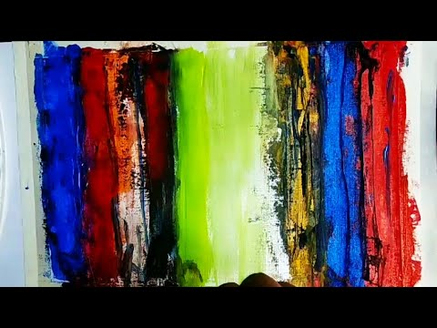 Couple in love abstract painting, romantic couple abstract painting, acrylic painting techniques