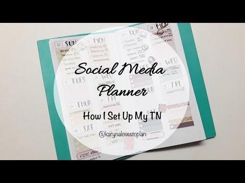 How I Set Up My Social Media Planner