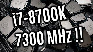 i7-8700K - 10 neue 6-Kern Rekorde mit bis zu 7300 MHz (de)