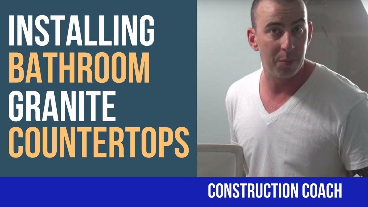 How to Install Bathroom Granite Countertops - YouTube