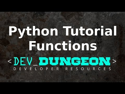 Python Tutorial - Functions