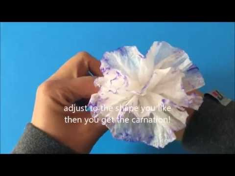 How to make a origami carnation in 3 minutes with facial tissue how to make a origami carnation in 3 minutes with facial tissue mightylinksfo Images