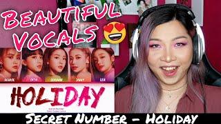 REACTING TO SECRET NUMBER (시크릿넘버) - HOLIDAY (Lyric Video)