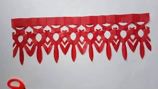 How To Make Paper Frills | Jhalar Cutting Design |Tips For Jhalar Cutting 2019 New