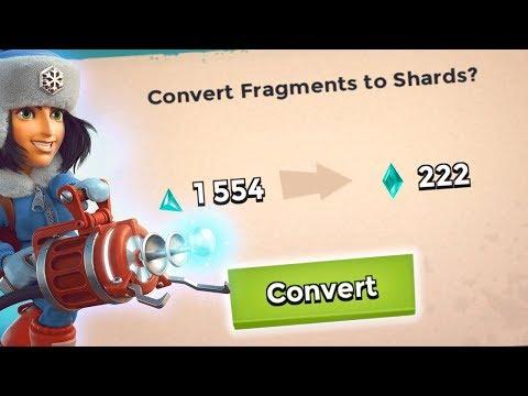 MASS Converting Spree! 1500 Fragments to 200+ Shards! Boom Beach RZCM!