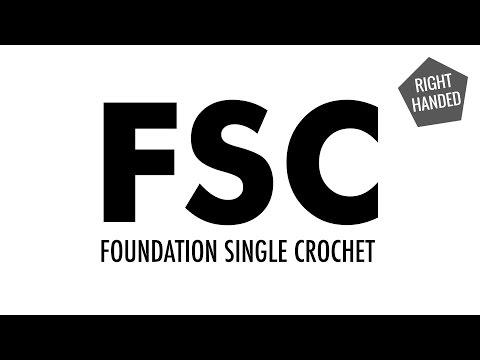 The Foundation Single Crochet (FSC):: Crochet Technique :: Right Handed