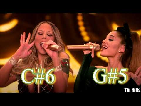 "Mariah Carey & Ariana Grande SEPARATED Harmonized Whistle Notes in ""Oh Santa"""