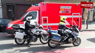 Polizei und Ordnungsamt kontrollieren Falschparker auf Fahrradschutzstreifen