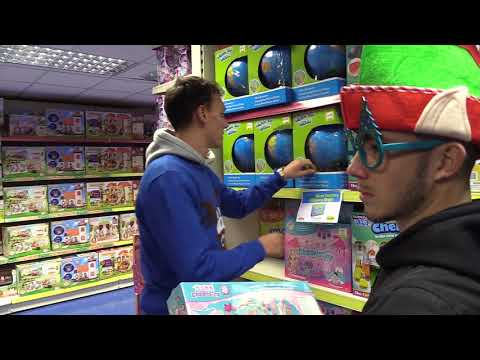 Kal Naismith and Conor Chaplin go shopping at Smyths Toy Superstore