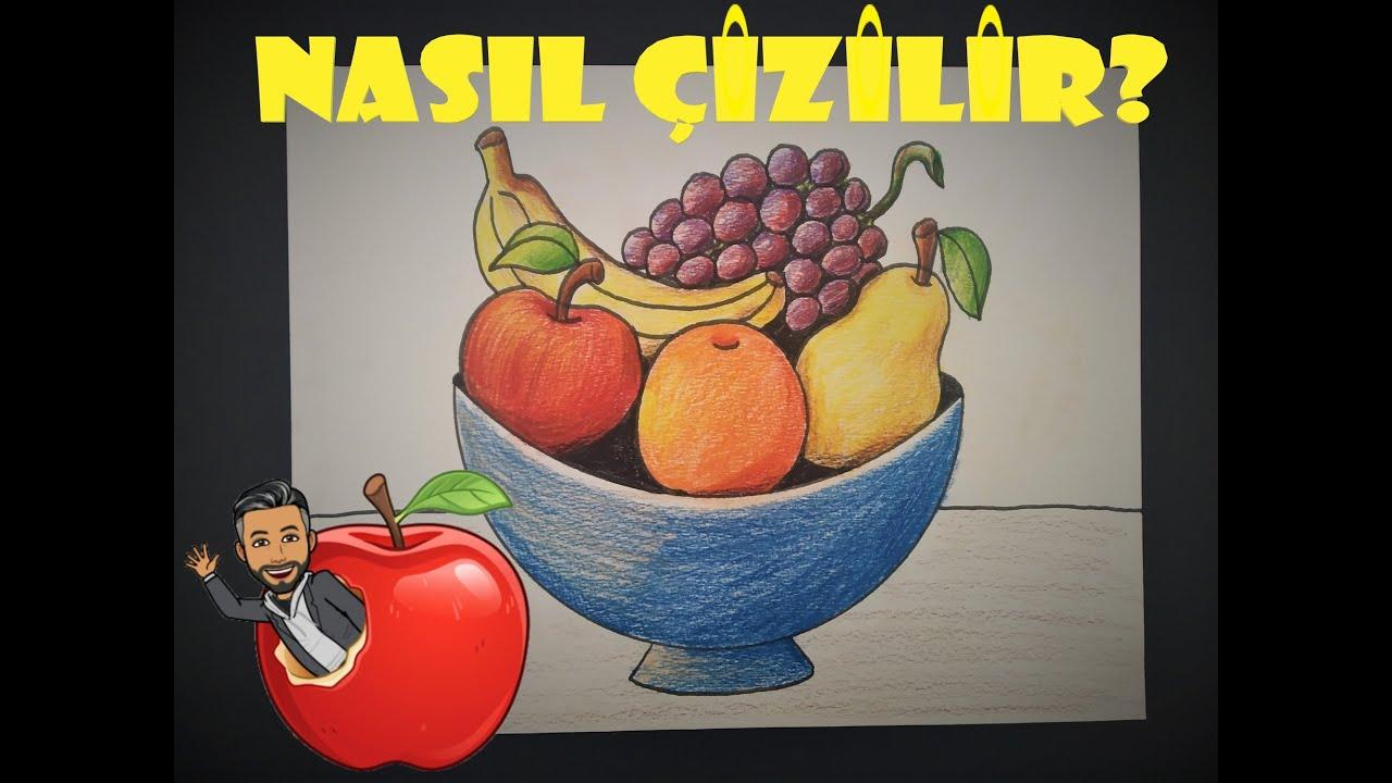 Meyve Sepeti nasıl çizilir nasıl boyanır | MiMi ile Çocuklar için Resim Çizme ve Boyama