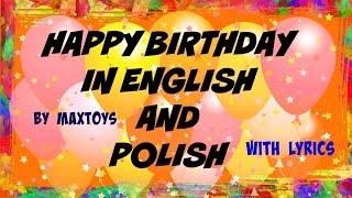 Happy Birthday in English and Polish with lyrics