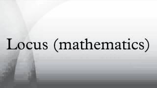 Locus (mathematics)