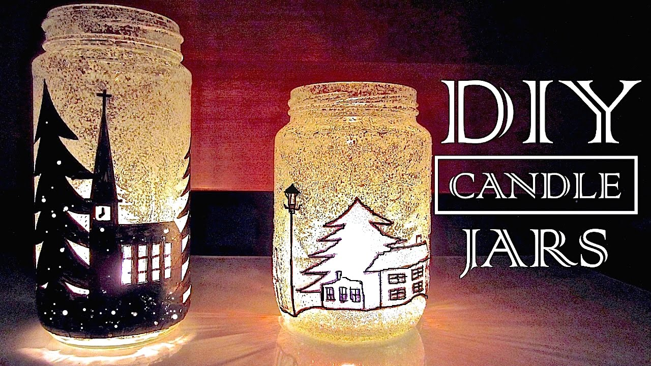 Diy christmas decorations gifts christmas in a jar for How to make christmas candle holders