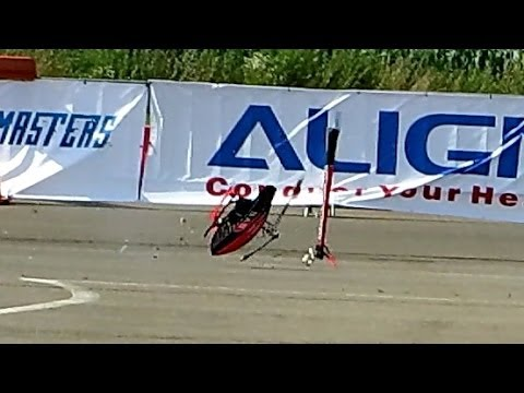 RC HELICOPTER CRASH